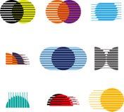 Sammlung des Bereichvektor-Logosatzes Lizenzfreie Stockbilder
