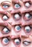 Sammlung des blauen Auges einer Frau Lizenzfreie Stockfotografie