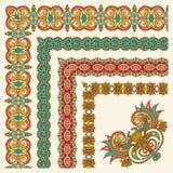 Sammlung des dekorativen Blumenweinleserahmens Stockbilder