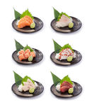 Sammlung des japanischen Sashimis Stockfotografie