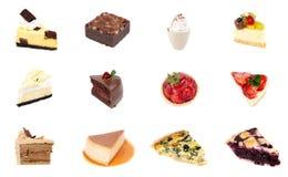 Sammlung des köstlichen Nachtischs Stockbilder