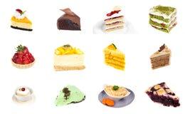 Sammlung des köstlichen Nachtischs Stockbild