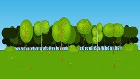 Sammlung des Karikatur-Baums im Vektor Stockbilder