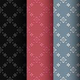 Sammlung des nahtlosen klassischen Musters von 3 Weinlese lizenzfreie abbildung