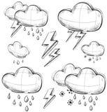 Sammlung des schlechten Wetters Lizenzfreies Stockbild