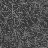 Sammlung des Spinnennetz lokalisierten transparenten Musters Spiderweb für Halloween-Design Spinnennetzelemente gespenstisch und  lizenzfreie abbildung
