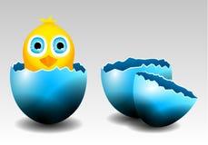 Sammlung des Vektor-Kükens im Ei und in defekten Eiern Stockbilder