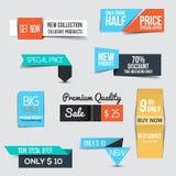 Sammlung des Verkaufs-Rabattes redete Origami Fahnen an Lizenzfreie Stockfotografie