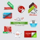 Sammlung des Verkaufs-Rabattes redete Origami Fahnen an Stockfoto