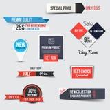 Sammlung des Verkaufs-Rabattes redete Origami Fahnen an Lizenzfreie Stockfotos