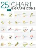 Sammlung Diagrammlogos Lizenzfreie Stockfotografie