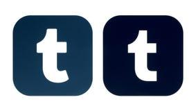 Sammlung eines alten Tumblr-Logos und neuen der Tumblr-Ikone lizenzfreie abbildung