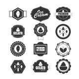 Sammlung Eiscreme-Gestaltungselemente Lizenzfreies Stockbild