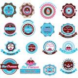 Sammlung Eiscreme-Gestaltungselemente Stockfoto