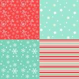 Sammlung für Einklebebuch Rot-grünes nahtloses Stockbild