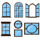 Sammlung Fensterarten Stockfoto