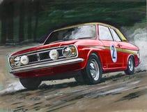 Sammlung Ford Cortinas MkII Stockfotos