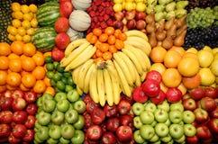 Sammlung frisch ausgewählte Früchte als Hintergrund Lizenzfreies Stockbild