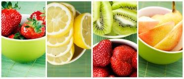 Sammlung frische Früchte Lizenzfreies Stockbild