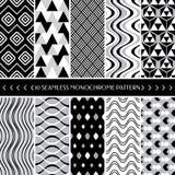 Sammlung geometrischer nahtloser Hintergrund des Musters 10 Lizenzfreie Stockbilder