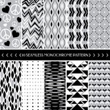 Sammlung geometrischer nahtloser Hintergrund des Musters 10 Stockfotos