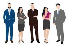 Sammlung Geschäftsleute Illustrationen in den verschiedenen Haltungen Stockbild