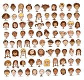Sammlung Gesichter der Kinder stock abbildung