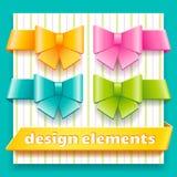 Sammlung Gestaltungselemente für Dekorationskind stock abbildung