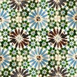 Sammlung grüne und blaue Musterfliesen Lizenzfreie Stockfotos
