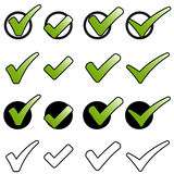 Sammlung grüne Haken Lizenzfreie Stockfotos