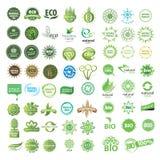 Sammlung von eco Zeichen Lizenzfreie Stockfotos