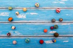 Sammlung Gummischlagbälle Stockbilder