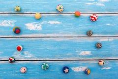 Sammlung Gummischlagbälle Stockfoto