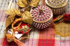 Sammlung indische Handwerkseinzelteile Stockbild