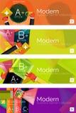 Sammlung infographic Konzepte des flachen Netzes und stock abbildung