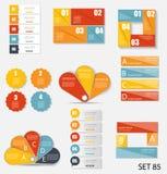 Sammlung Infographic-Schablonen für Geschäft Lizenzfreies Stockbild