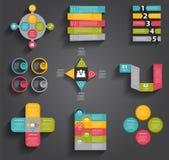 Sammlung Infographic-Schablonen für Geschäft Lizenzfreie Stockbilder