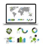 Sammlung Infographic-Schablonen für Geschäft Stockfotografie