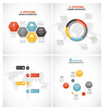 Sammlung Infographic-Schablonen für Geschäft Lizenzfreies Stockfoto