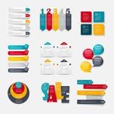 Sammlung Infographic-Schablonen für Geschäft lizenzfreie abbildung