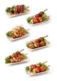Sammlung Japaner Kushiyaki Stockfotos