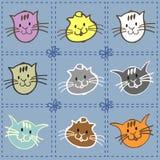 Sammlung Kätzchen lizenzfreie abbildung