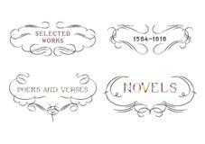 Sammlung kalligraphische Verzierungen Lizenzfreies Stockbild