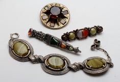 Sammlung keltischer Artkostümschmuck Stockfoto