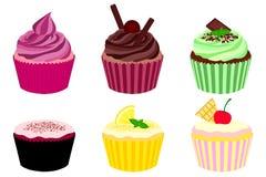 Sammlung kleine Kuchen Stock Abbildung