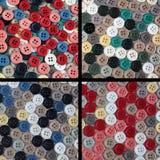 Sammlung Knöpfe von verschiedenen Farben Lizenzfreies Stockbild