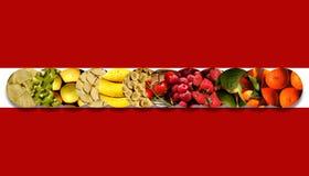 Sammlung Kreise voll von fruchtigen Beschaffenheiten Lizenzfreies Stockfoto