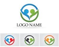 Sammlung Leute-Ikonen im Kreis - Vector Gemeinschaft, Firma, der Stern, Unternehmens, Lizenzfreie Stockfotos