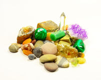 Sammlung Mineralien Lizenzfreies Stockbild