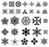 Sammlung mit 25 keltische Knoten Lizenzfreies Stockbild